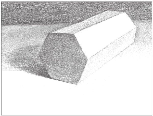素描六棱柱的绘画步骤(8)
