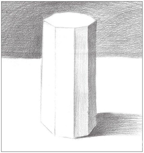 素描八棱柱绘画步骤7