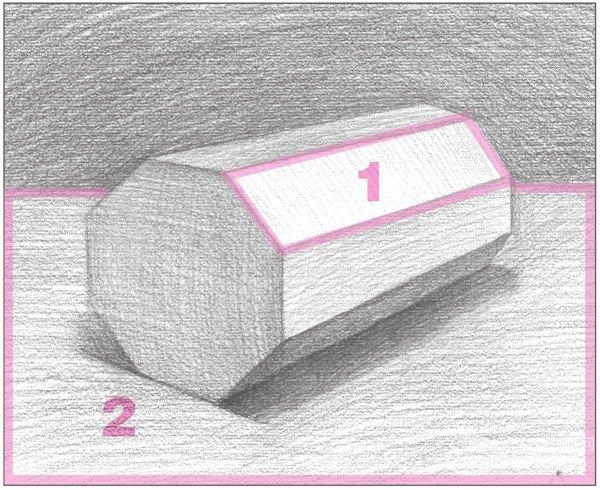 素描八棱柱绘画步骤10
