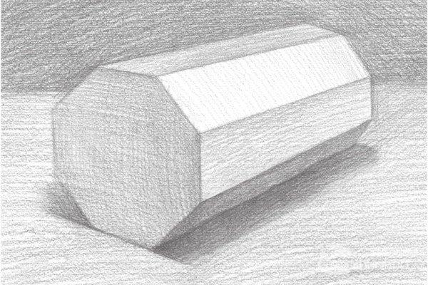 素描八棱柱绘画教程