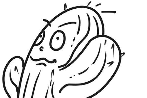 趣味简笔画:多刺的仙人掌绘画步骤