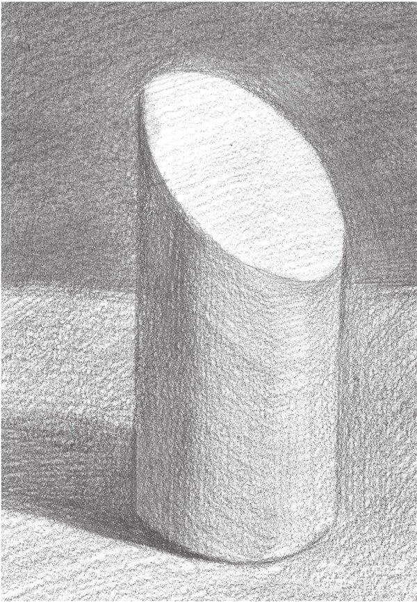 学画画 素描教程 素描石膏像 > 素描:斜面圆柱绘画技巧      斜面圆柱
