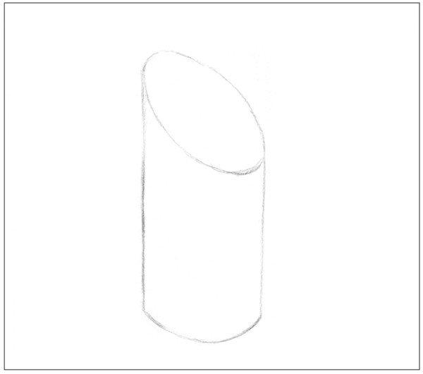 素描 斜面圆柱绘画技巧图片