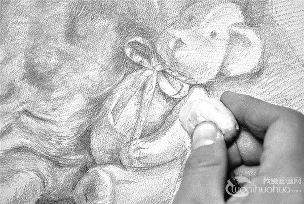 素描工具用法:可塑橡皮的使用