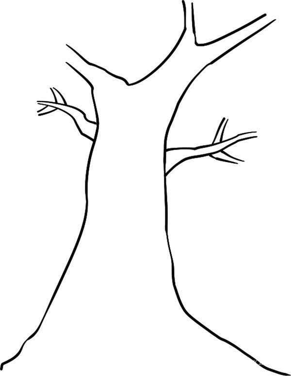 趣味简笔画:扎实的树绘画步骤(2)