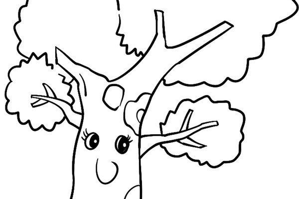 趣味简笔画:扎实的树绘画步骤