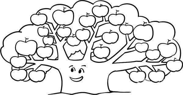 学画画 儿童画教程 简笔画 > 趣味简笔画:茂密的果树绘画步骤(4)