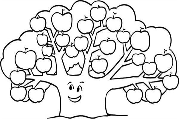 趣味简笔画:茂密的果树绘画步骤