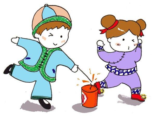 卡通画:放烟花的绘画步骤(3)_儿童画教程_学画画_我爱