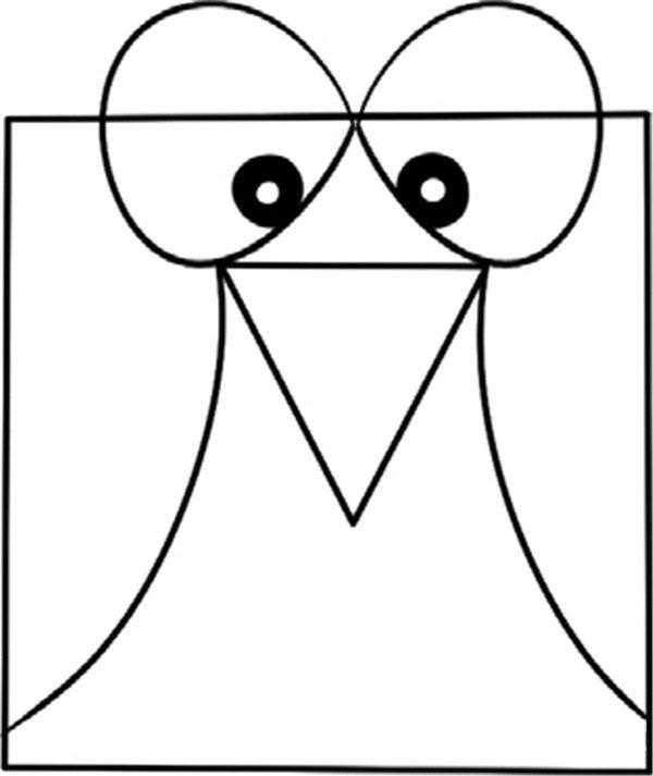趣味简笔画 淘气的小鸟绘画步骤 3