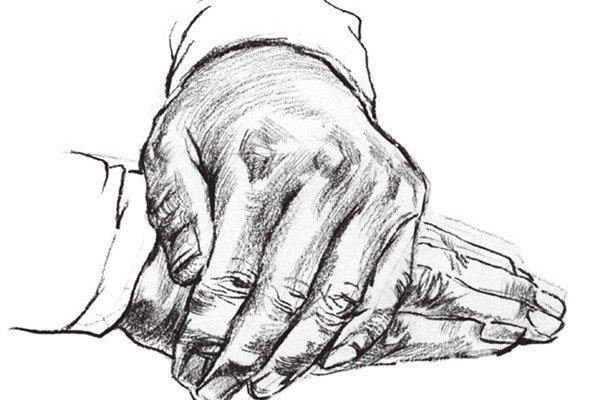 速写人物手部的画法步骤