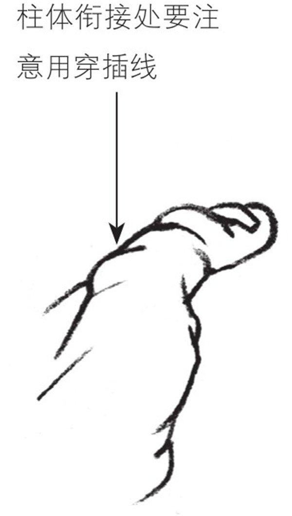 速写手部细节四 速写手部细节五 速写手部细节六 速写手部细节七 速写手部细节八 速写手部细节五速写手部细节六速写手部细节七速写手部细节八 速写:手的 绘画 步骤 1、先起形,把手概括为几个线形,把最主要的几个骨点位找准。画出起伏,要整体观察、整体入手。 速写手的绘画步骤一 2、把每根手指都想成是一个个小圆柱,相互衔接贯穿。一定在这一步骤中明确 速写:手的绘画步骤1、先起形,把手概括为几个线形,把最主要的几个骨点位找准。画出起伏,要整体观察、整体入手。速写手的绘画步骤一2、把每根手指都想成是一个个小圆柱,