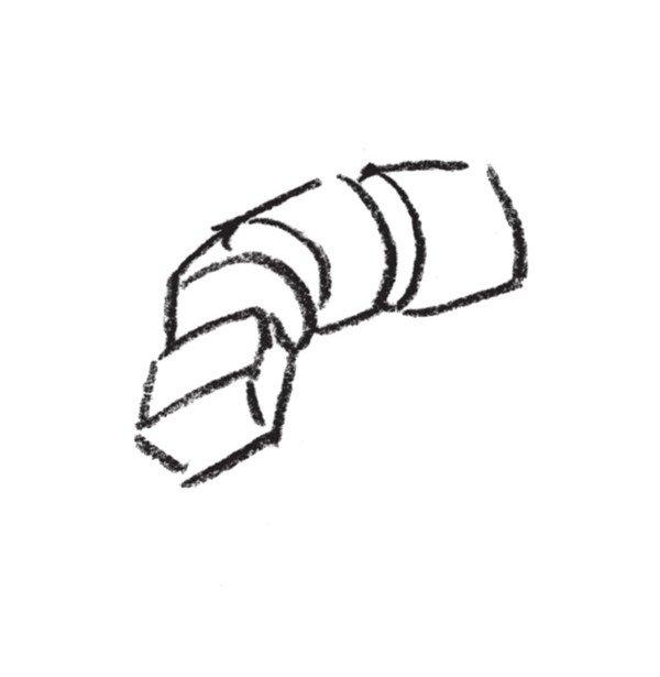 速写人物手部的画法步骤(2)