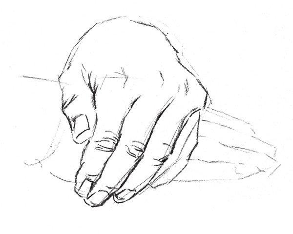 速写人物手部的画法步骤(4)