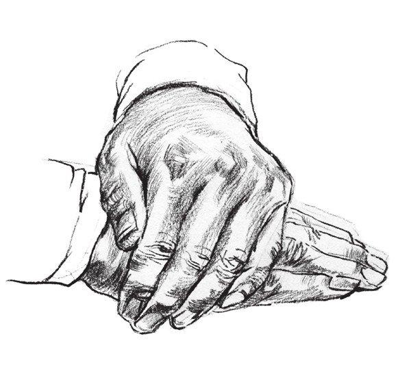 速写人物手部的画法步骤(5)