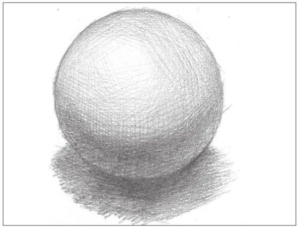 学画画 素描教程 素描石膏像 > 素描:球体绘画技法(8)      7,深入