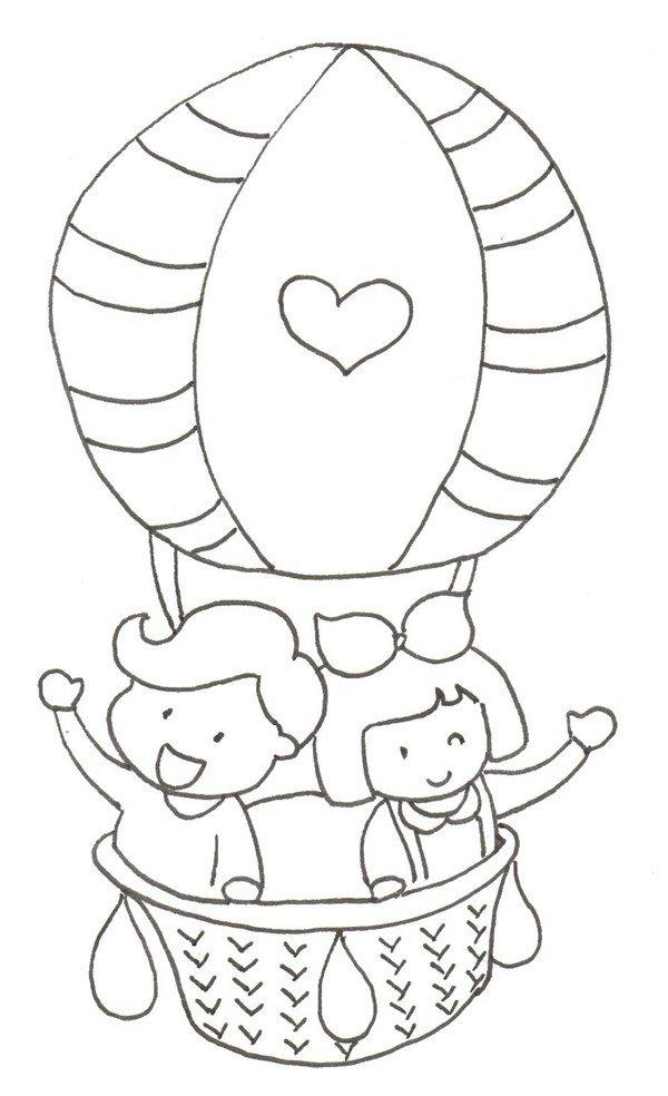 学画画 儿童画教程 卡通画 > 卡通画:热气球绘画步骤(3)