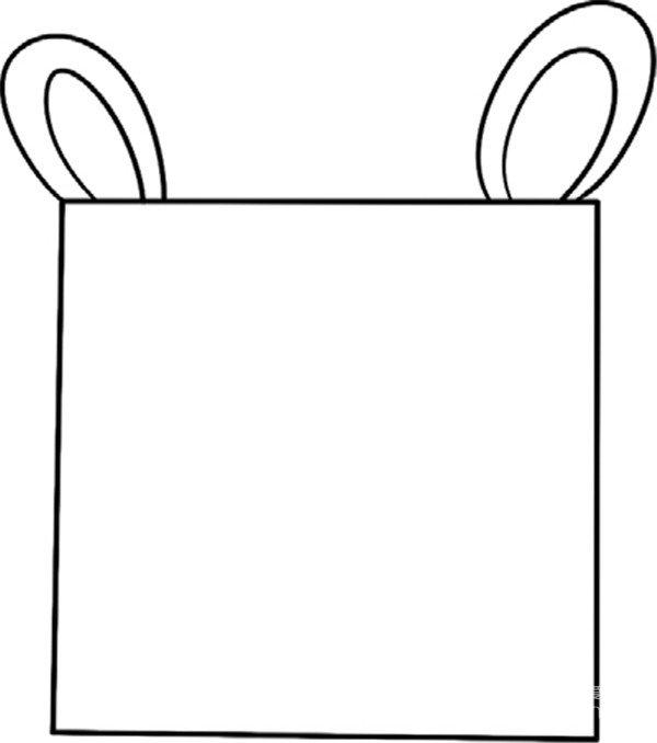 趣味简笔画:可爱的河马绘画步骤(2)