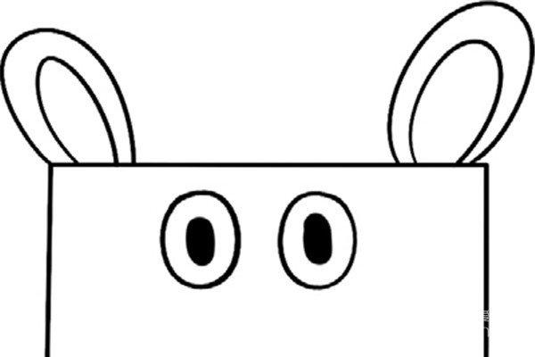 趣味简笔画:可爱的河马绘画步骤