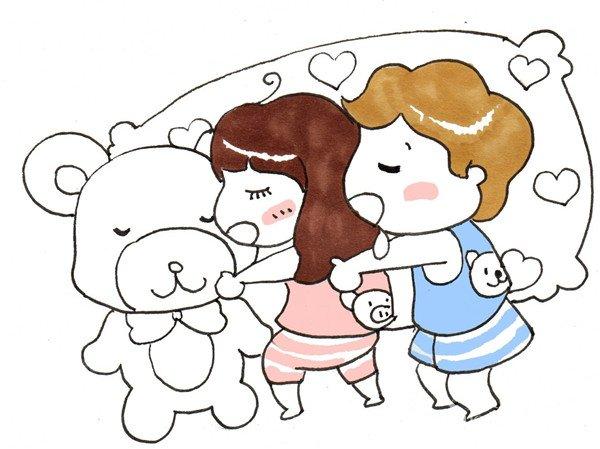 卡通画午睡的绘画步骤八
