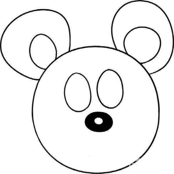 趣味简笔画:机灵的老鼠绘画步骤(3)