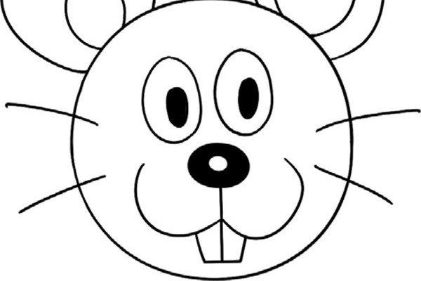 趣味简笔画:机灵的老鼠绘画步骤