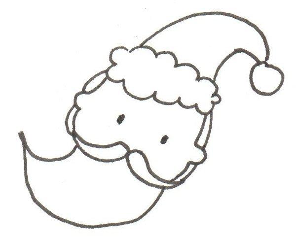 卡通画:圣诞老人的绘画技法_儿童画教程_学画画_我爱