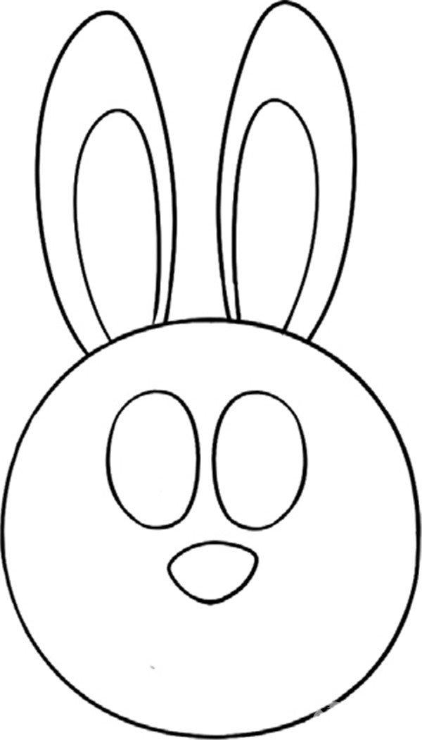 趣味简笔画:灵敏的兔子绘画步骤(3)