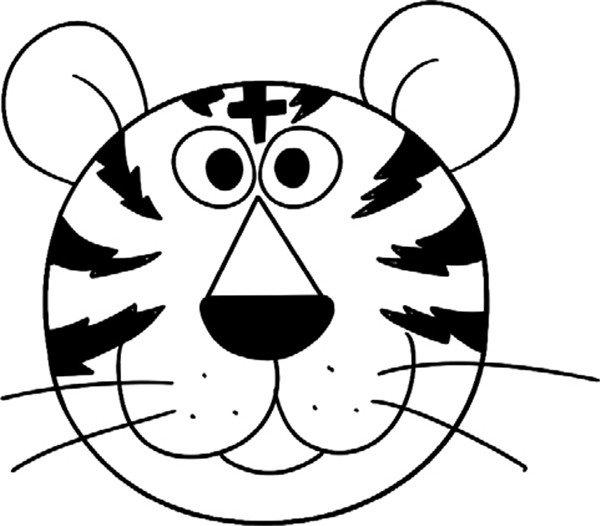 趣味简笔画:调皮的老虎绘画步骤(4)
