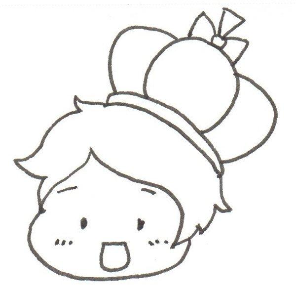 卡通画小王子的绘画步骤二                      ②画脸.