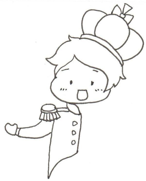 卡通画:小王子的绘画步骤(3)