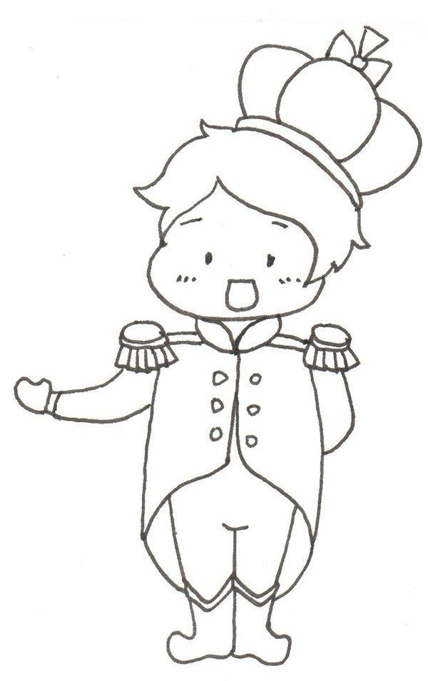 卡通画:小王子的绘画步骤(4)_儿童画教程_学画画_我爱