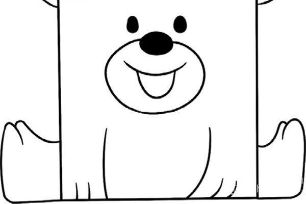 趣味简笔画:开心的小熊绘画步骤