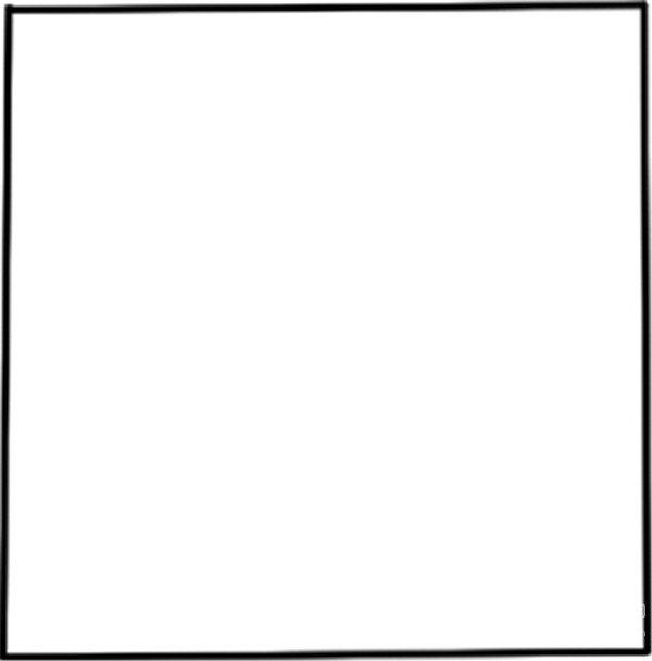 简笔画 公鸡 画一个正方形