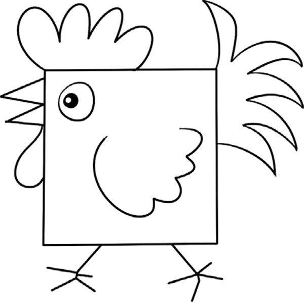 趣味简笔画:有趣的公鸡绘画步骤(4)