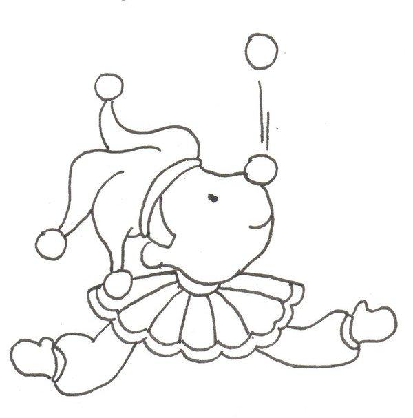 卡通画:小丑的绘画步骤_儿童画教程_学画画_我爱画画网