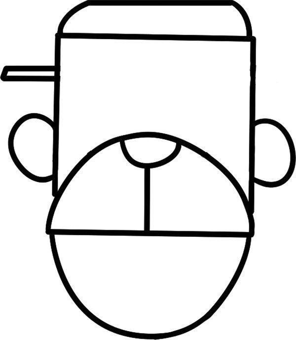 趣味简笔画:长脸的猴子绘画步骤(3)_儿童画教程_学_我