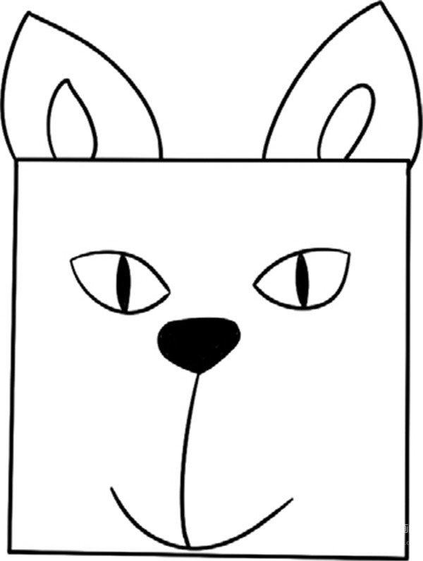 趣味简笔画:小小的猫绘画步骤(3)_儿童画教程_学画画