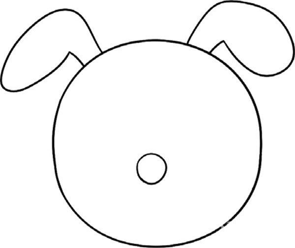 趣味简笔画:忠诚的小狗绘画教程(2)