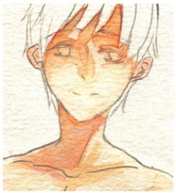 水彩画绘制男性皮肤的肌肉感(3)