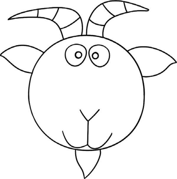 趣味简笔画:经验丰富的老山羊绘画步骤(4)_儿童画教程