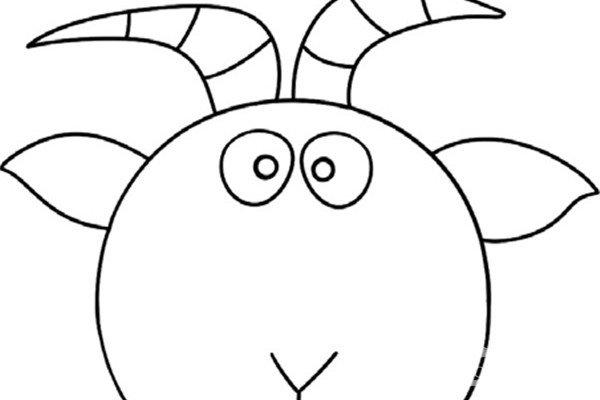 趣味简笔画:经验丰富的老山羊绘画步骤