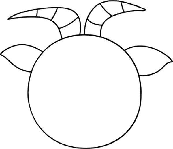 趣味简笔画:经验丰富的老山羊绘画步骤(3)