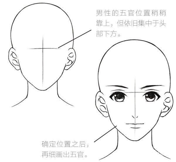 > 水彩:绘制人物的五官的基本画法   漫画中的女性尤其是美少女,脸部
