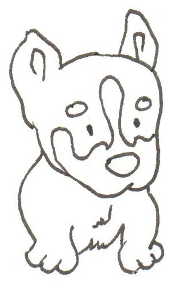 卡通画:哈士奇的绘画步骤