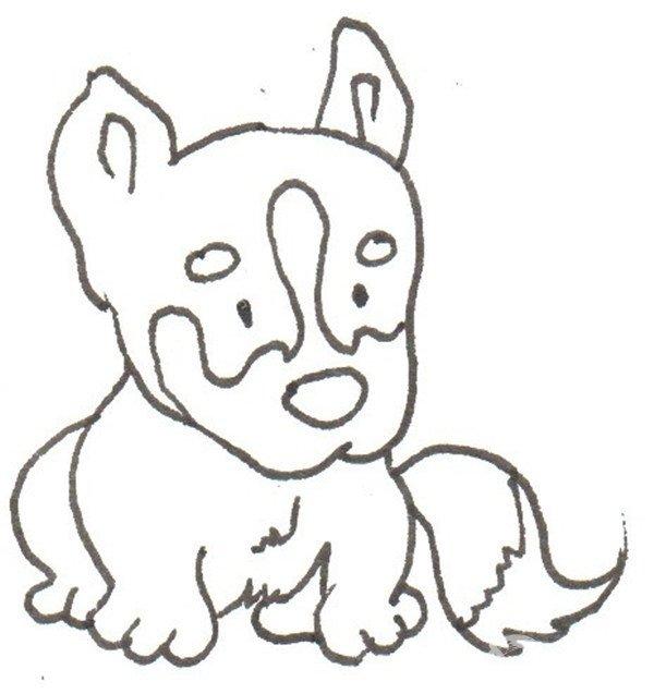 卡通画:哈士奇的绘画步骤(2)