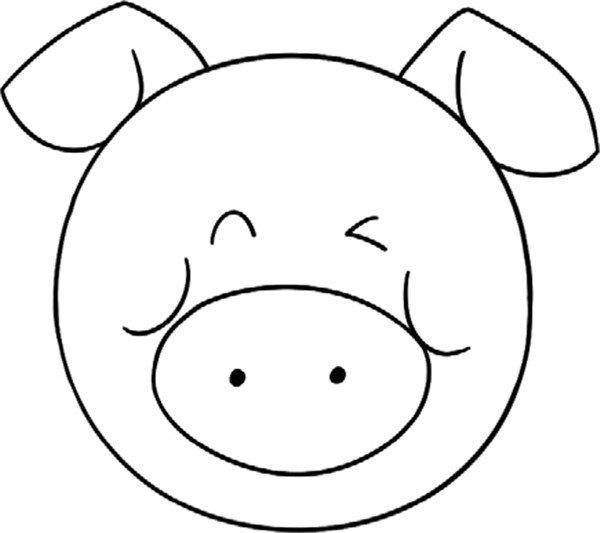 趣味简笔画:肥嘟嘟的小猪绘画步骤(4)