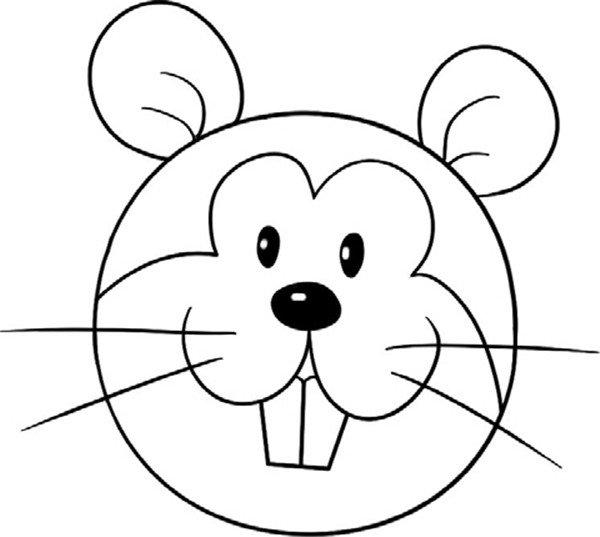简笔画 漏出牙齿的松鼠