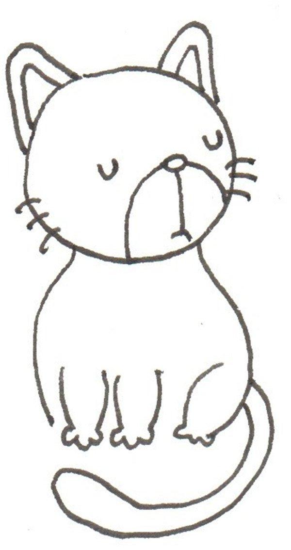 卡通画,花猫的绘画步骤(3)