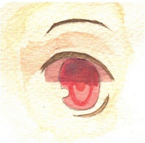 用水彩表现眼睛的光泽(3)